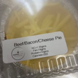 BEEF BACON AND CHEESE PIES