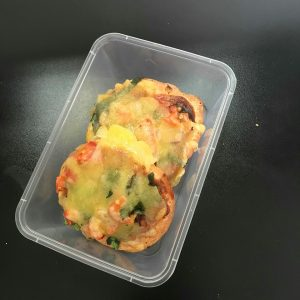 PIZZA TOPPED BAGELS