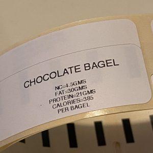 CHOCOLATE BAGEL